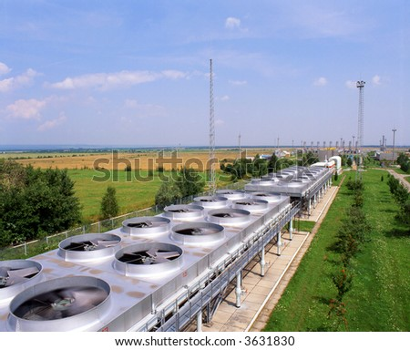 gas industry compressor stations gas transmission system. - stock photo