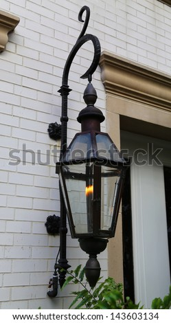 Gas Lamp in New Orleans - stock photo