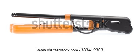 Gas lighter gun for gas-stove isolated on white background