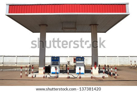gas lpg  liquid petroleum gas  station isolated white - stock photo