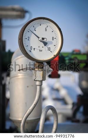 Gas manometer - stock photo