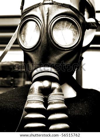 gas mask - stock photo