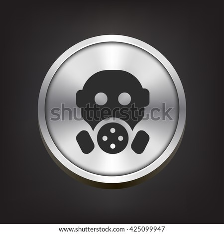 gas mask icon. gas mask sign