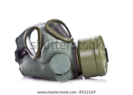 Gas mask isolate on white background