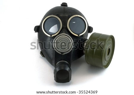 Gas mask, protection frame of health from harmful substances.