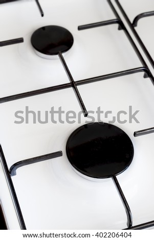 Gas Oven Top - stock photo