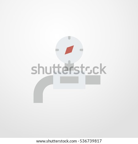 gas pipe icon illustration isolated sign symbol