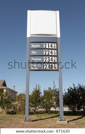 Gas price sign cleaned of logos
