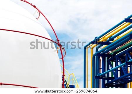 Gas Propane-butane, Storage Tank - stock photo