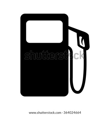 Gas pump icon isolated on white bckground. illustration - stock photo