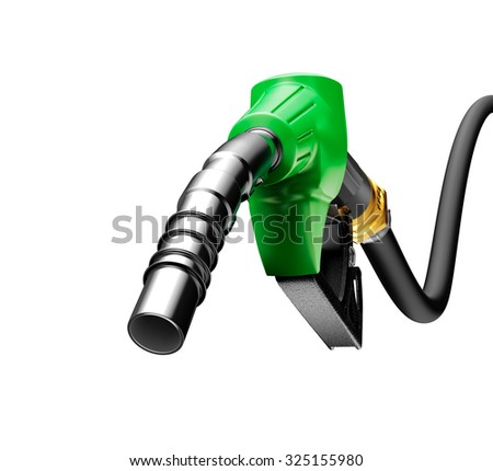 Gas pump isolated on a white background - stock photo
