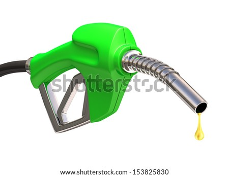 Gas pump with a drop of gasoline fuel.