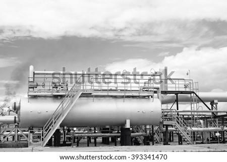 Gas refinery plant - stock photo