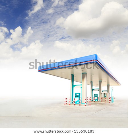 Gas Station and blue sky