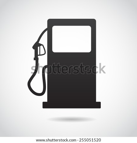 Gas station icon isolated on white background. - stock photo