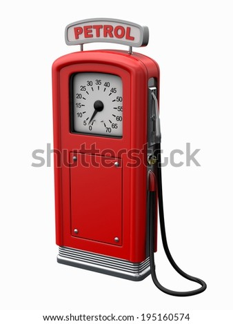gas station isolated on white - stock photo