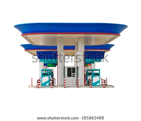 gas station isolated on white background.
