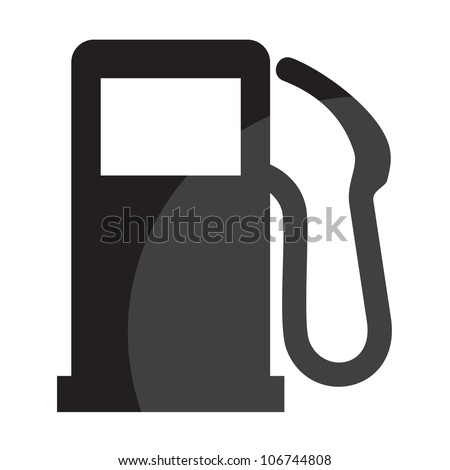 gas station sign - stock photo