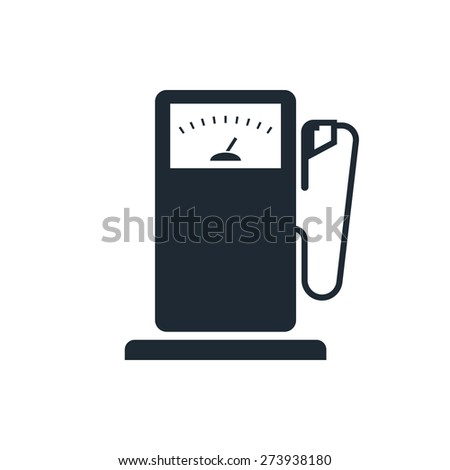 Gas Station sign icon - stock photo