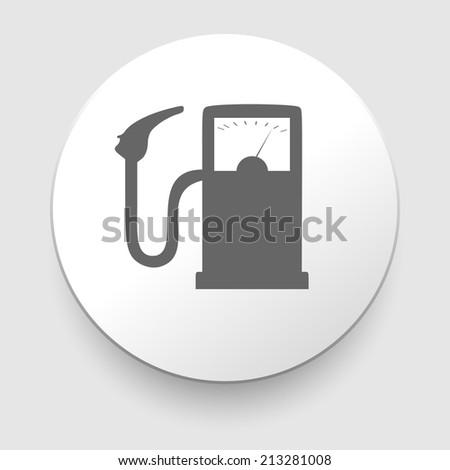 Gas Station sign. Illustration on white background.  - stock photo