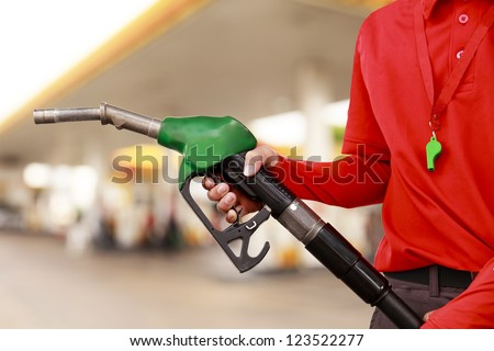 Gas Station Worker and service