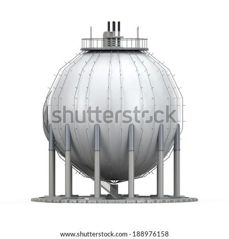 Gas Storage Refinery - stock photo