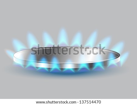 Gas stove burner illustration - stock photo