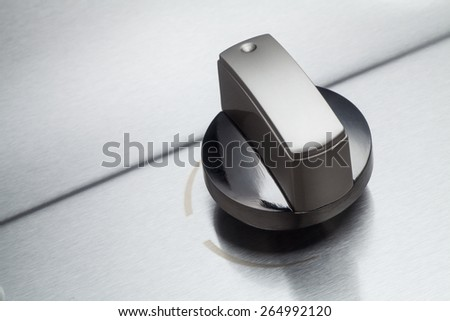 Gas stove switch, Close-up. - stock photo