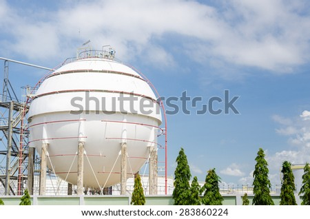 Gas tank energy storage - stock photo