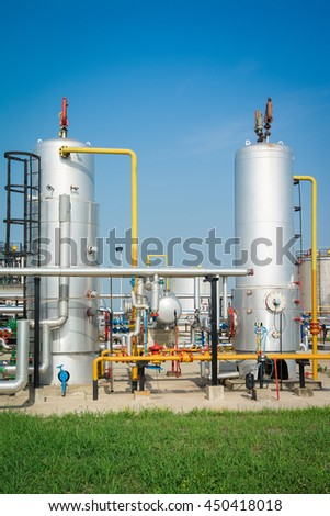 Gas tank in oil Processing Plant