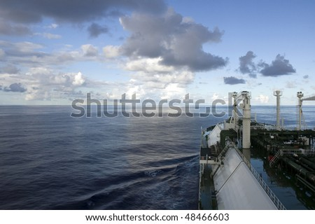 Gas tanker LNG - stock photo