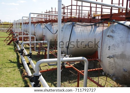 Gas tanks in a row