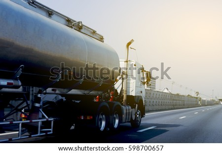 Gas truck on road