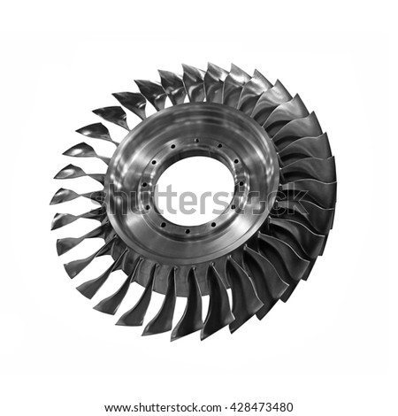 Gas Turbine for generating a jet engine power - stock photo