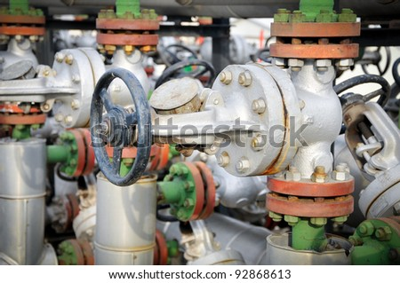 Gas valve for oil - stock photo
