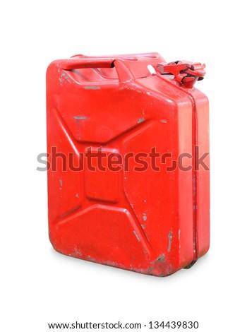 gasoline tank  isolated on white background - stock photo