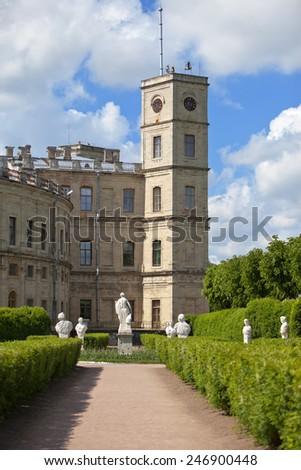 Gatchina palace, Russia, Gatchina - stock photo