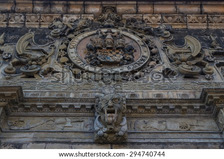 Gate decoration of the fortress of Tuebingen (Tubingen), Germany