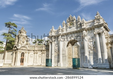 Gate of The Sultan, Dolmabahce Palace, Istanbul, Turkey - stock photo