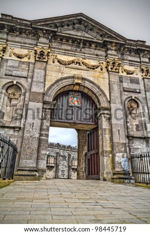 Gate to Kilkenny Castle in Co. Kilkenny, Ireland