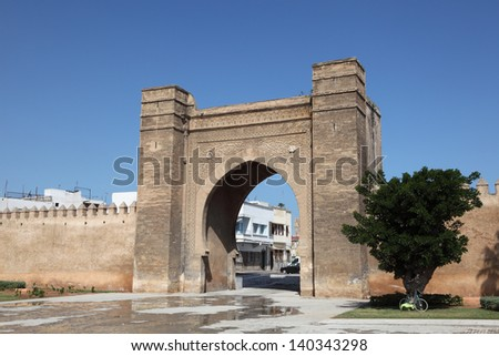 Gate to the medina of Sale, Morocco