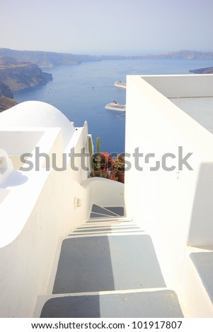 Gate to the sea - Santorini island
