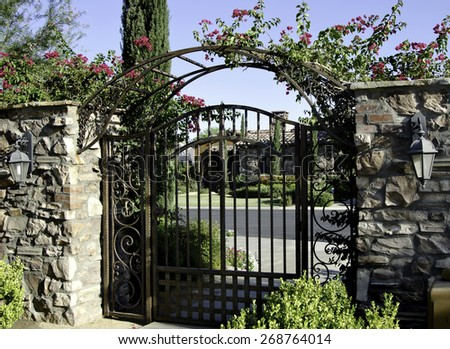 Gated Community New Homes House - stock photo