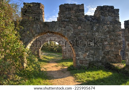 Gates of the Egri Castle at Pilis, Hungary