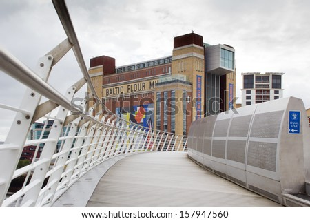 GATESHEAD, ENGLAND - AUGUST 20: The Baltic Centre for Contemporary Art, the largest museum of its kind in the world on August 20, 2013 in Gateshead, England - stock photo