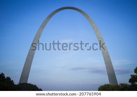 Gateway arch at sunset. - stock photo