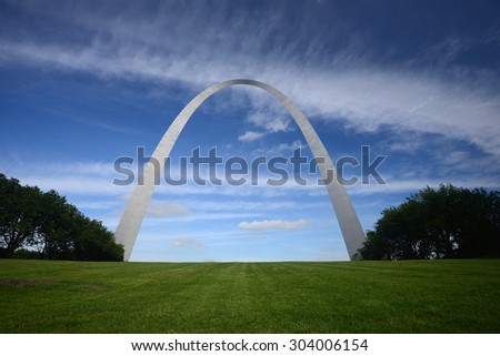 gateway arch in Saint Louis - stock photo