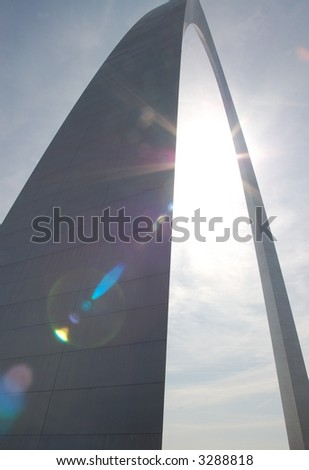 Gateway Arch in St. Louis with Sun Flare
