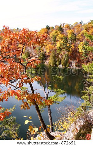 Gatineau Park in October - stock photo