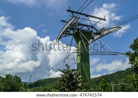 GATLINBURG-AUGUST 8: Aerial Tramway Ober Gatlinburg Gatlinburg, Tennessee, USA on August 8, 2016.